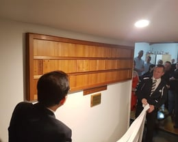 Unveiling of the Nafuda Board at the club