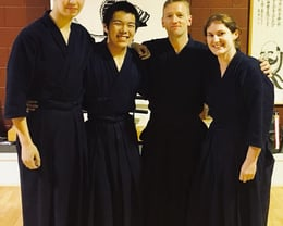 Canterbury members of the NZ Kendo Team